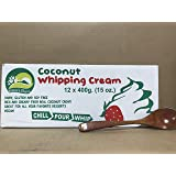 KC Commerce Nature's Charm Coconut Whipping Cream 15oz With Free Wooden Spoon (15oz pack of 12)