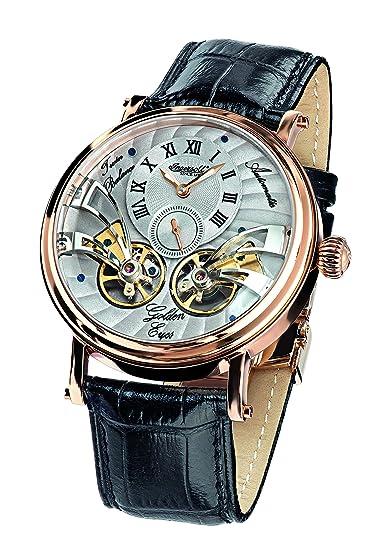 Ingersoll IN1711RGY - Reloj automático, para hombre, con correa de cuero, color negro: Amazon.es: Relojes