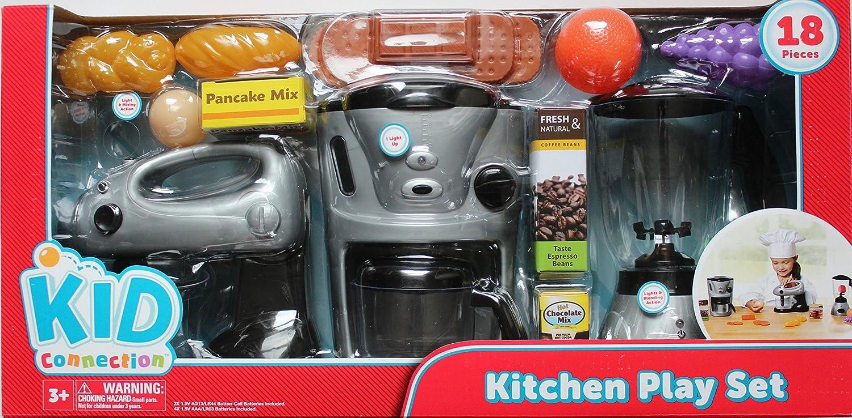 amazon com  kid connection kitchen play set  toys  u0026 games  rh   amazon com