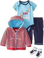 Vitamins Baby Baby-Boys Newborn I Spy Stripe 4 Pack Jacket Pant Set