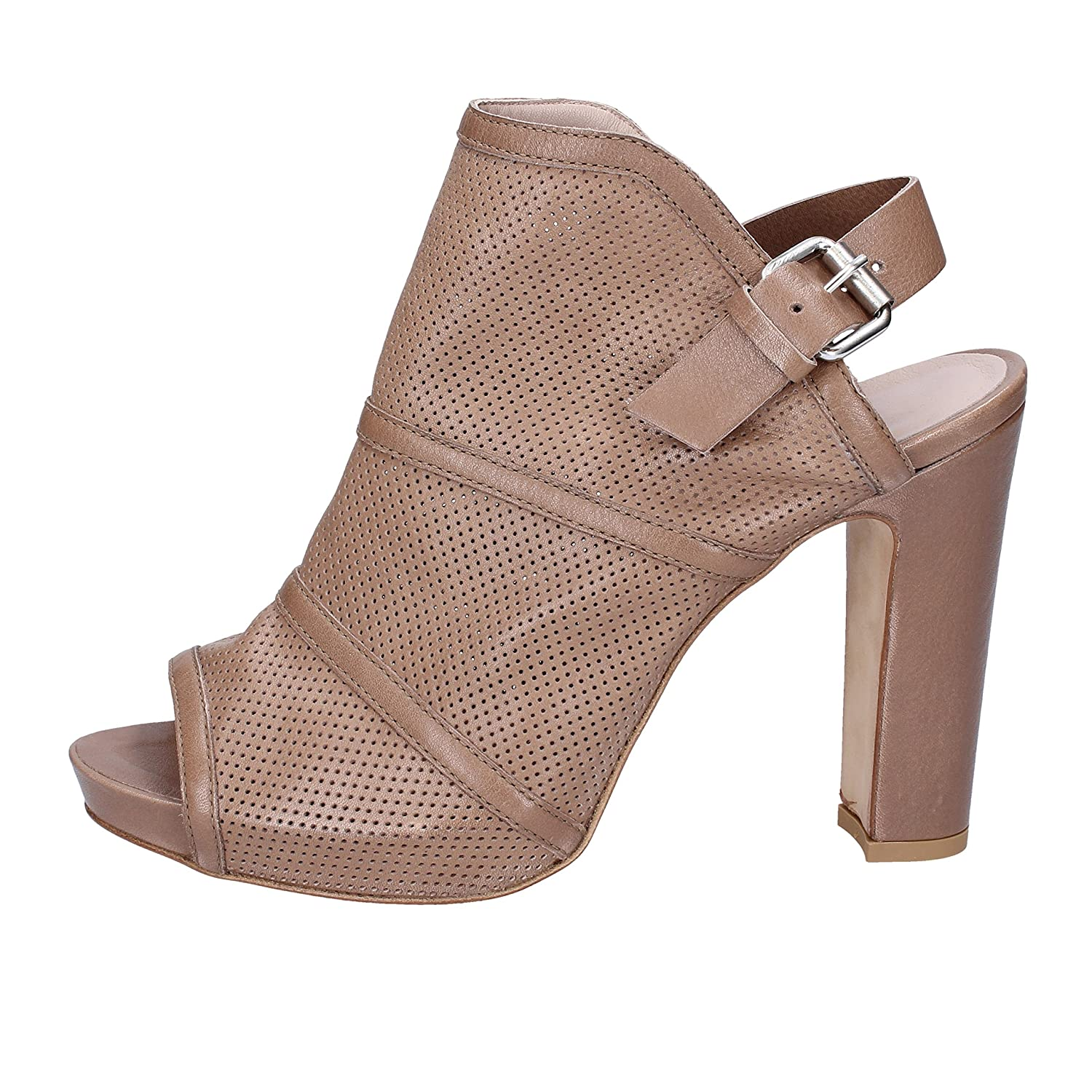 - JANET & JANET Sandals Womens Leather Beige