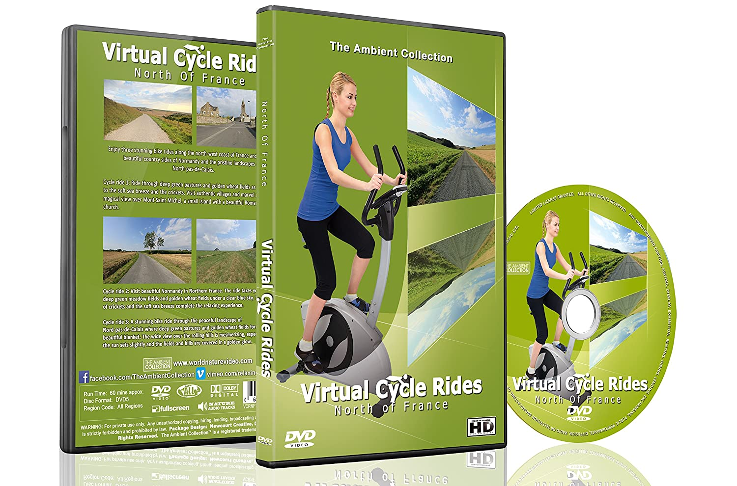 Virtual Cycle Rides - North of France for Indoor Cycling Treadmill ...
