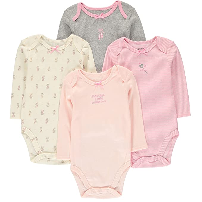 807bce736af7 Amazon.com  Wan-A-Beez 4 Pack Baby Girls  and Boys  Long Sleeve ...