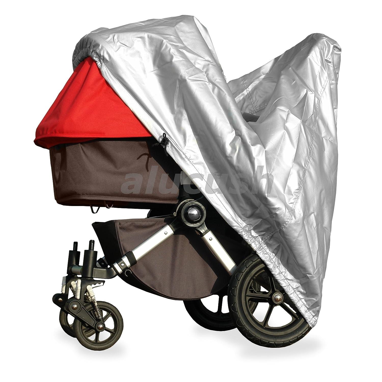 alucush Abdeckung für Kinderwagen Hartan RACER S Regenschutz Regenverdeck softgarage