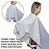 Salon and Barber Cape with Snaps For Hair