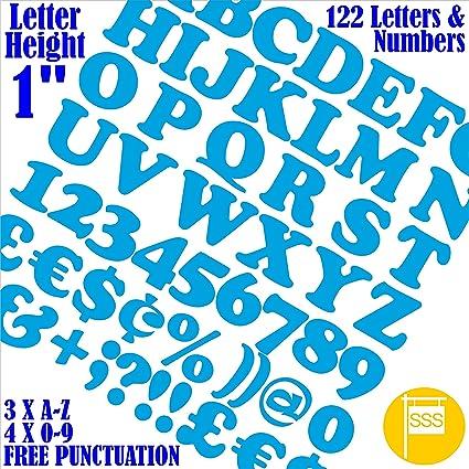 Letras y números, paquete de 122 unidades de 2,5 cm ...