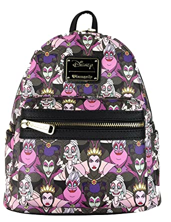 b47bb399057 Loungefly Disney Villains Mini Faux Leather Backpack Standard