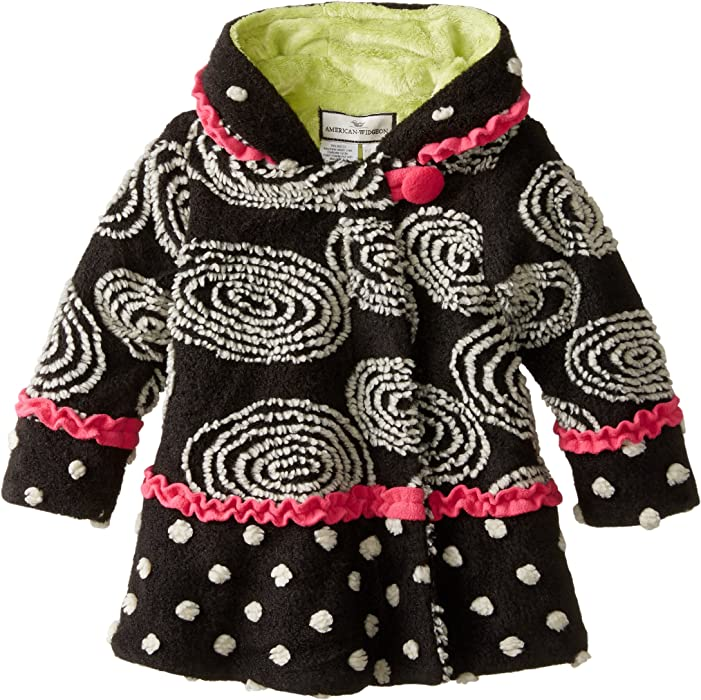 3e5a311b9624 Amazon.com: Widgeon Girls' Little Hooded Swirl and Twirl Coat ...