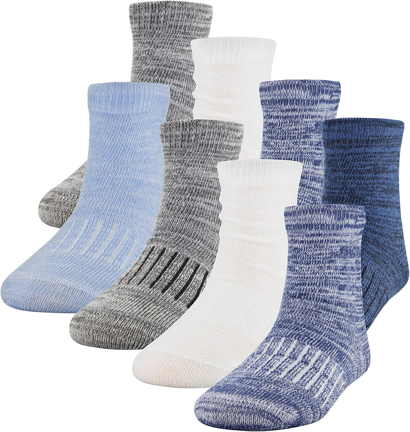 PEDS Unisex Baby-Toddler Growing Socks with Mesh Laundry Bag, 8 Pairs