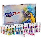 Extra Fine Glitter Set of 60 Vibrant Colors | Color Powder in Leak-Proof Shaker Jars (0.32oz/9g) | Arts & Crafts Glitter…