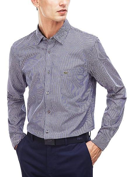 Lacoste Ch9569 Camisa, Azul (Paquebot/Cerise-Blanc), 39 (Talla del ...