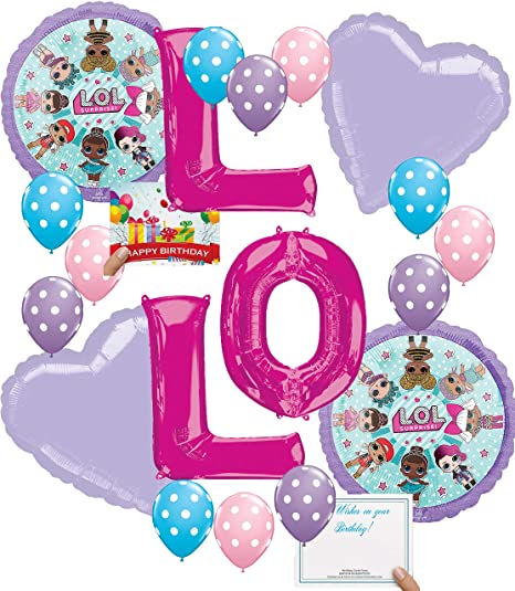 Amazon Lol Party Supplies Birthday LOL Balloons Bouquet