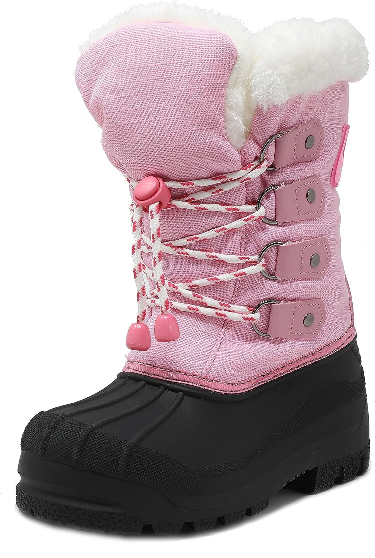 DREAM PAIRS Boys & Girls Knee High Winter Snow Boots