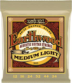 Ernie Ball Earthwood Medium Light 80/20 Bronze Acoustic Set.012 - .054