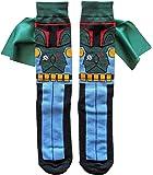Hyp Star Wars Boba Fett Caped Men's Crew Socks Shoe Size 6-12