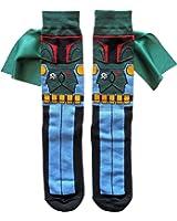 Star Wars Boba Fett Caped Men's Crew Socks Shoe Size 6-12 (Boba Caped)