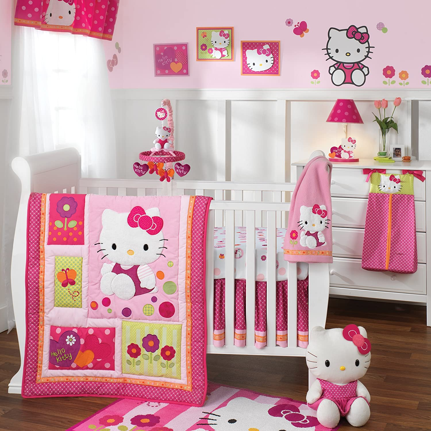 Hello kitty crib for sale - Amazon Com Lambs Ivy Hello Kitty Garden Lamp Pink Discontinued By Manufacturer Nursery Lamps Baby