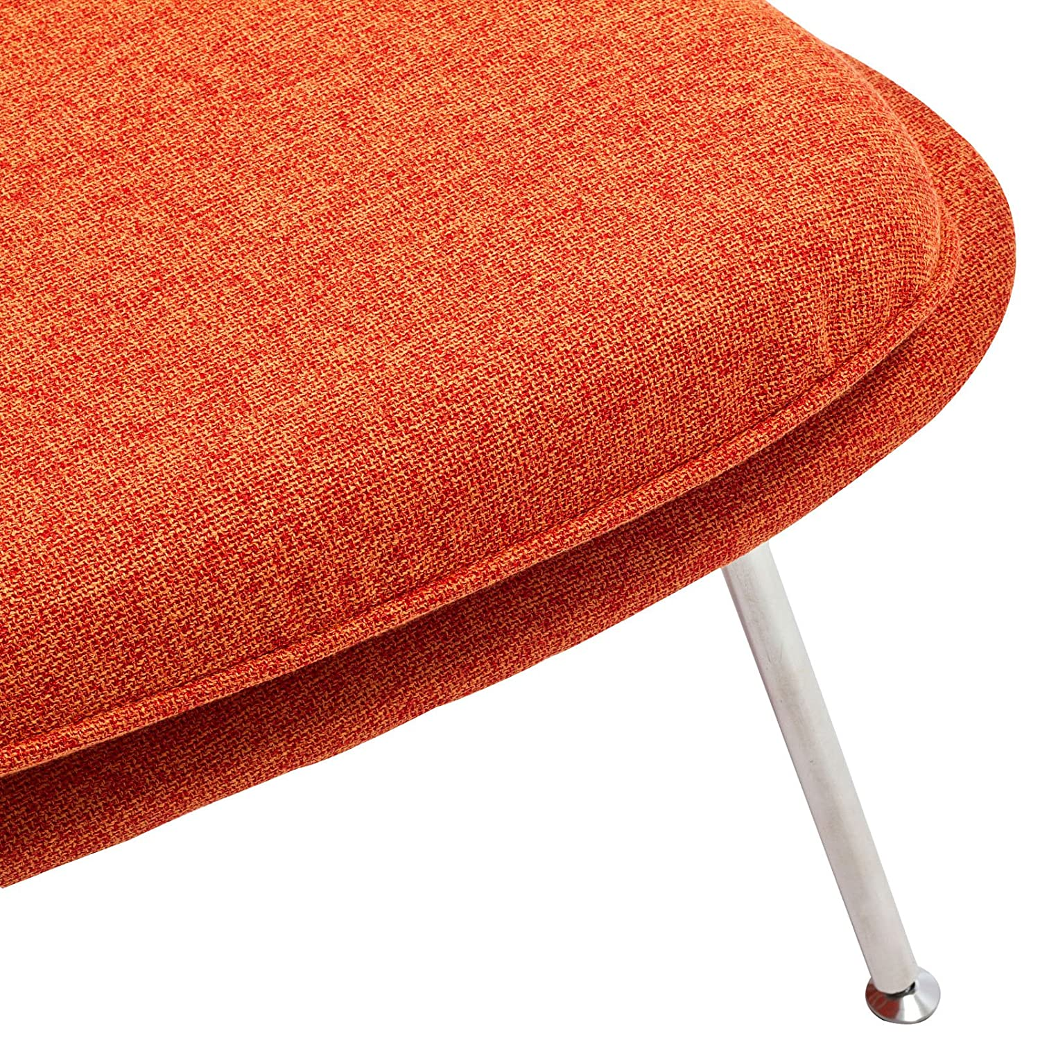 amazoncom modway eero saarinen style womb chair and ottoman set  - amazoncom modway eero saarinen style womb chair and ottoman set in orangetweed kitchen  dining