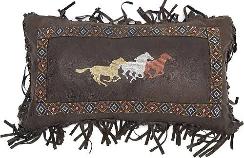 Carstens, Inc Three Horses Pillow