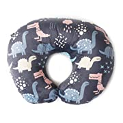 Minky Nursing Pillow Cover | Dinosaurs Pattern Slipcover | Best for Breastfeeding Moms | Soft Fabric Fits Snug On Infant Nursing Pillows to Aid Mothers While Breast Feeding | Great Baby Shower Gift