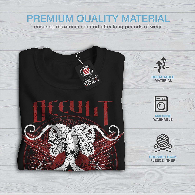 Horror Casual Jumper wellcoda Occult Satan Devil Mens Sweatshirt