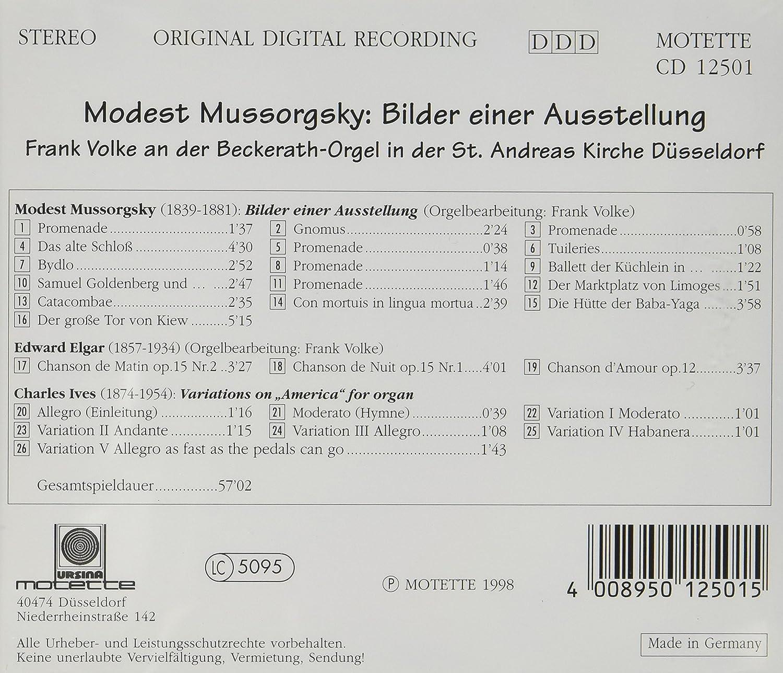 M. P. MUSSORGSKY - Bilder Einer Ausstellung - Amazon.com Music