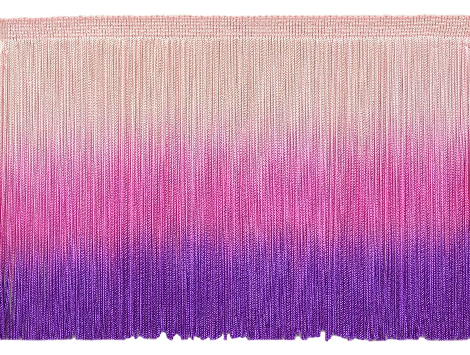 DecoPro 6 Inch Chainette Fringe Trim, Style# CF06 Color: Tie Dye Pink - TDP, Sold by The Yard