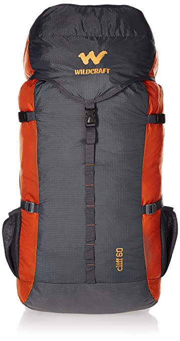adecd8470b24 Wildcraft 60 Ltrs Orange Rucksack (8903338073833)  Amazon.in  Bags ...