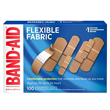 39af52927250b Band-Aid Brand Flexible Fabric Adhesive Bandages for Wound Care & First  Aid, Assorted Sizes, 100 ct