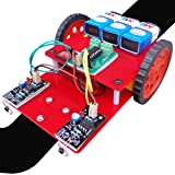 NASA Tech Line Following Robot Complete Kit - IR Sensor And Motor Driver Based Line Follower Complete Kit With Instruction