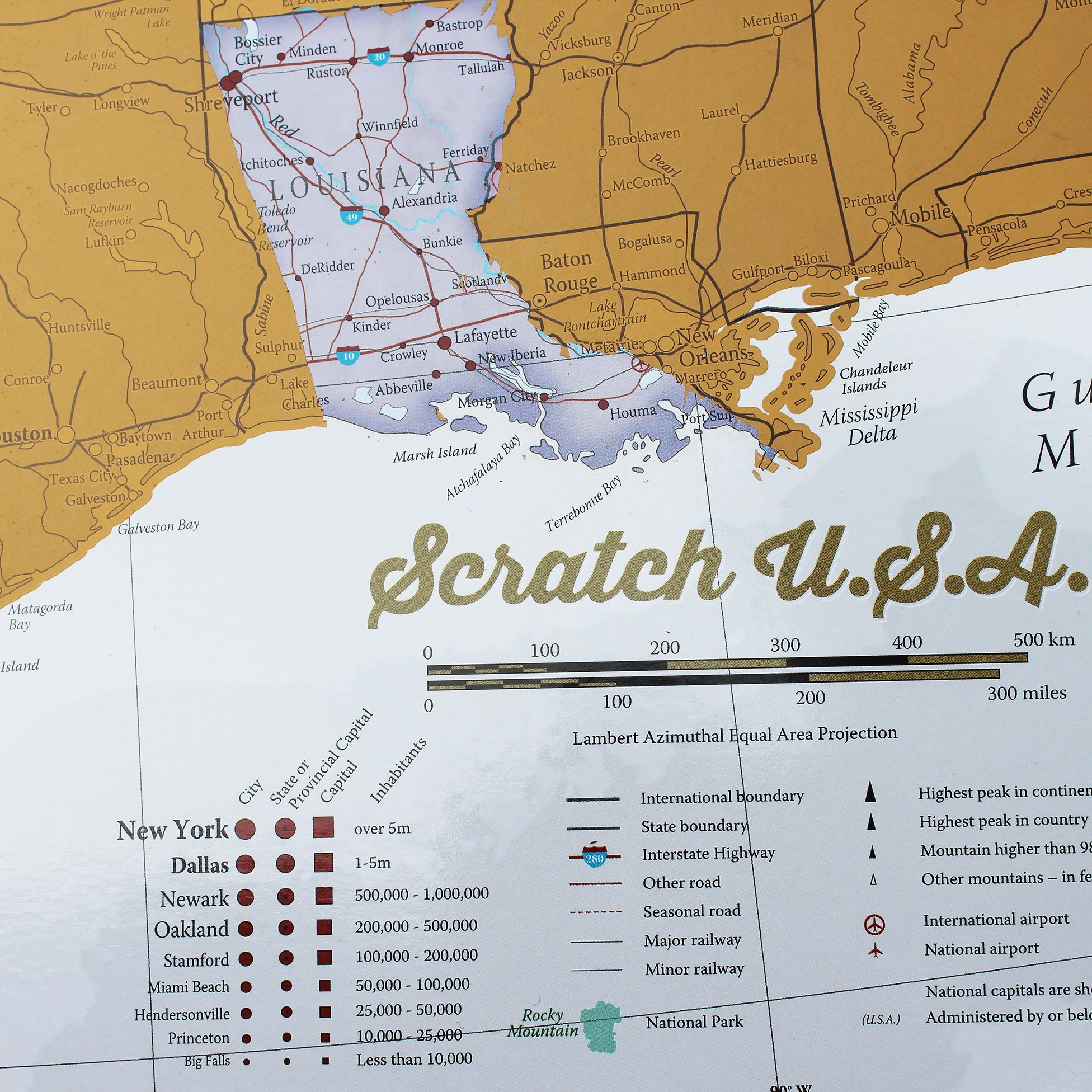 Traveling To The United States: Scratch Off Places You Travel