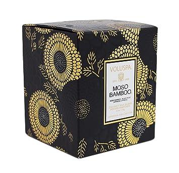 Amazoncom Voluspa Moso Bamboo Scalloped Glass Candle 62 Ounce