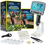 NATIONAL GEOGRAPHIC Digital Microscope for Kids – 40-Piece Handheld Microscope, Lightweight, Portable, Capture 1080p…