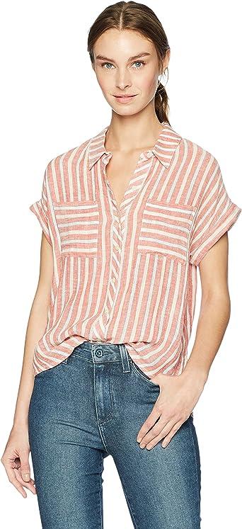 Lucky Brand Womens Tie Back Stripe Shirt