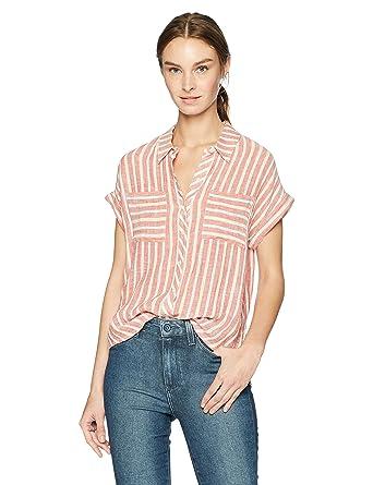 f0cd886b46c Lucky Brand Women s Tie Back Stripe Shirt at Amazon Women s Clothing store
