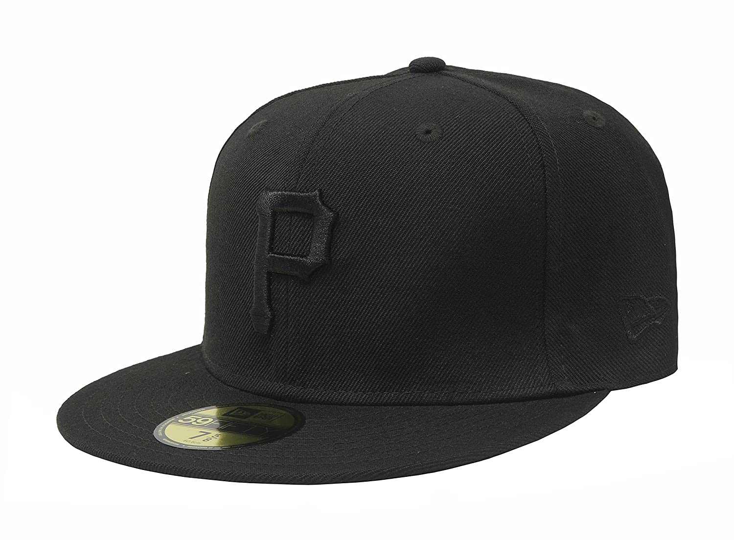 New Era 59Fifty Hat Pittsburgh Pirates Black on Black Fitted Cap 11591115  at Amazon Men s Clothing store  bc633055f3c6