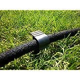 Ancore di fissaggio al pavimento per tubi in gomma da giardino, confezione da 100 pezzi