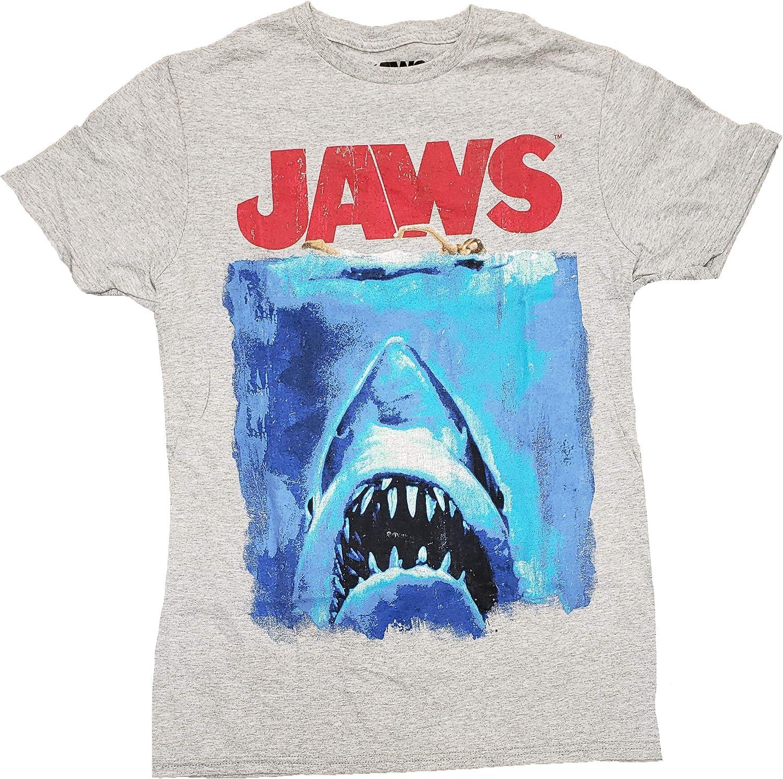 Jaws Gray Graphic T-Shirt