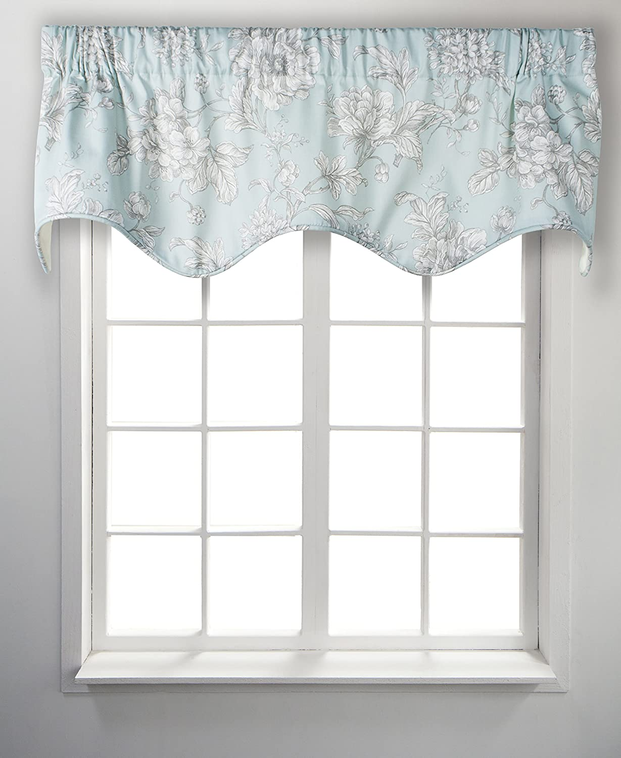 50 X15 Meadow Solid Lined Scallop Window Valance By Ellis Curtain Garden Curtains Window Treatments Hardware