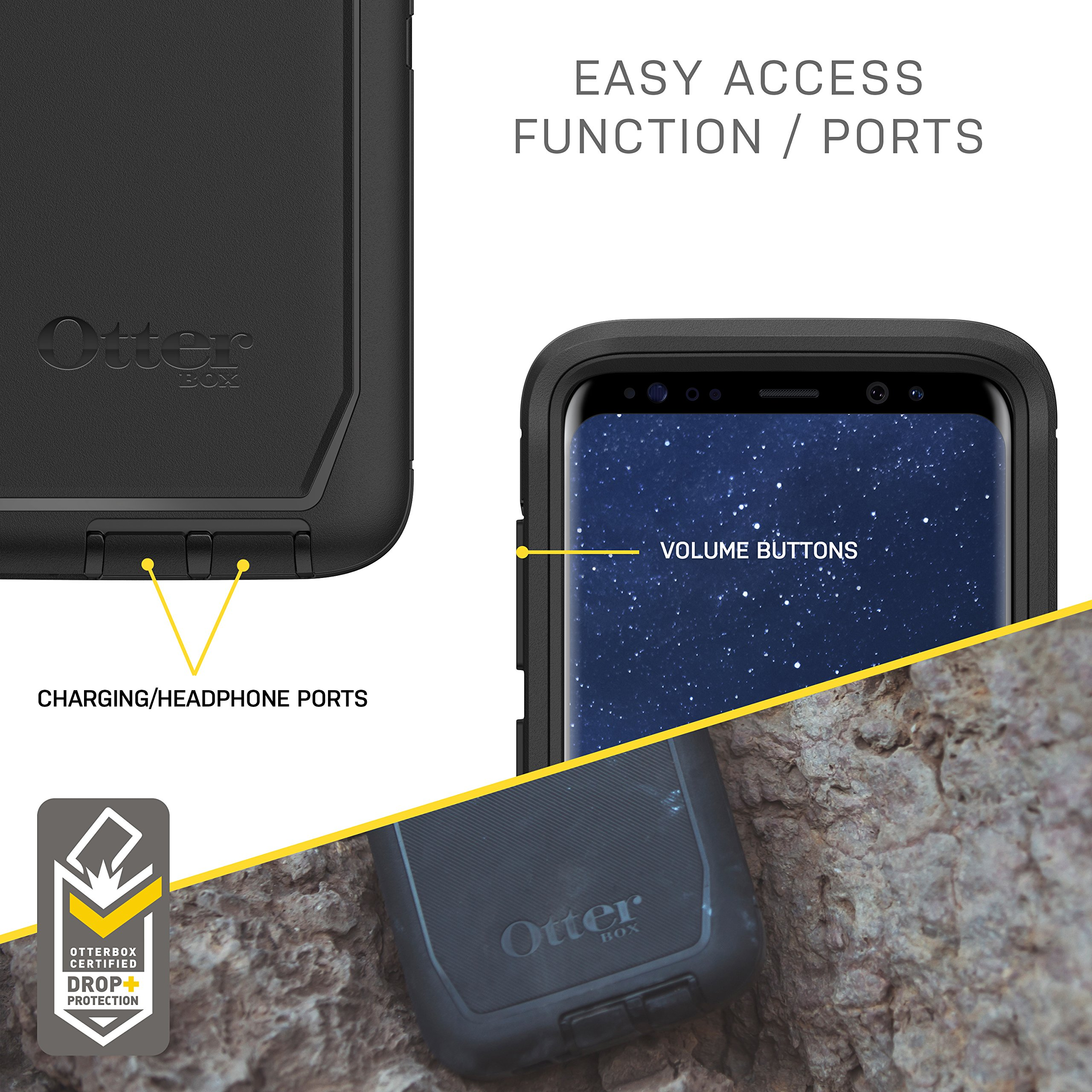 OtterBox Defender Series SCREENLESS Edition for Samsung Galaxy S8+ - Frustration Free Packaging - Black by OtterBox (Image #6)