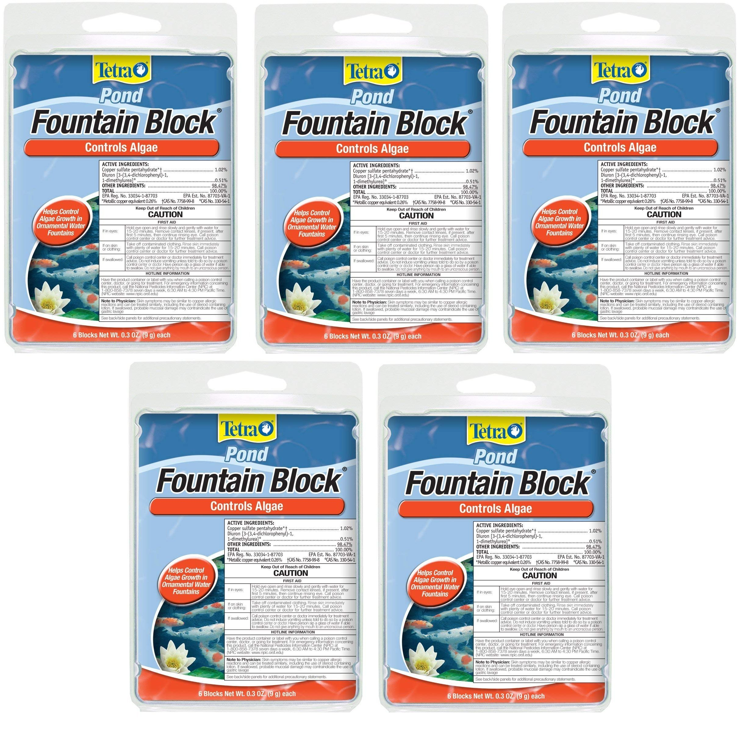 Tetra Pond Anti-Algae Control Blocks for Fountains, 6-Count (5-Pack)