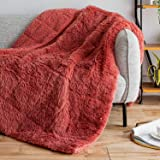 Sivio Luxury Shaggy Longfur Weighted Blanket 20lbs, Snuggly Fuzzy Faux Fur Heavy Warm Elegant Plush Sherpa Microfiber…