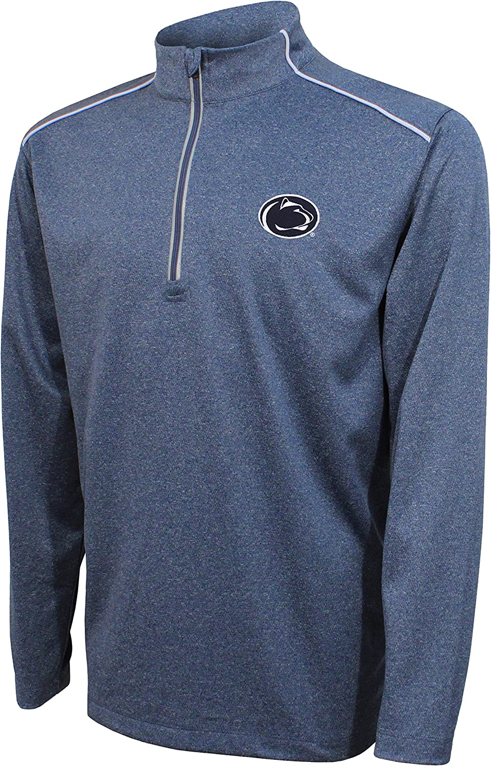Crable Adult Men NCAA Quarter Zip with with Shoulder Piping Navy//White X-Large