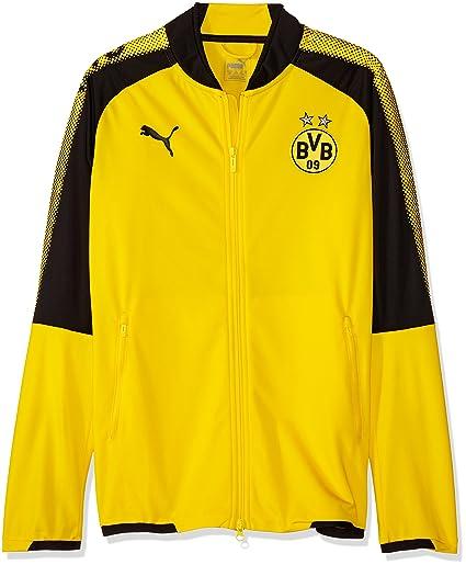 df24d60852aa2 Amazon.com   PUMA 2017-2018 Borussia Dortmund Poly Jacket (Yellow ...
