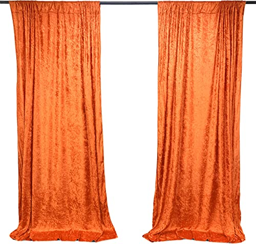 AK TRADING CO. 10 feet x 10 feet Lush Velvet Backdrop Drapes Curtains Panel