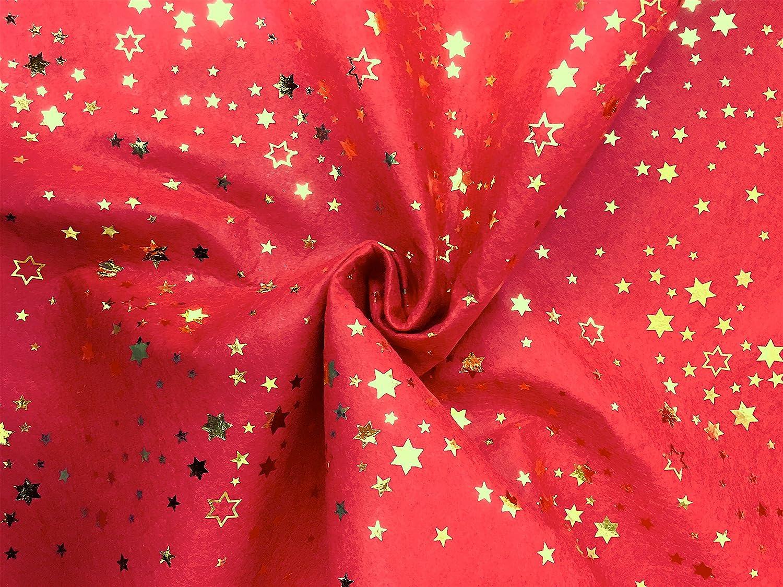 ... STELLE LUREX - A metraggio a partire da 50 CM DI LUNGHEZZA x 150 CM di  LARGHEZZA FISSA - Spessore 1 mm - Panno fai da te Natale (Blu) Panini  Tessuti 16c67bb8d18