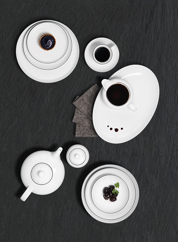Porcellana Bianco 12/unit/à Seltmann Weiden 001.737148/Servizio da tavola 12/Pezzi Lido Black Line Stoviglie 32.3/x 32.3/x 23.5/cm