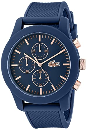71ce3500f Image Unavailable. Image not available for. Color: Lacoste Men's 2010827  12.12 Analog Display Chronograph Quartz Blue Watch