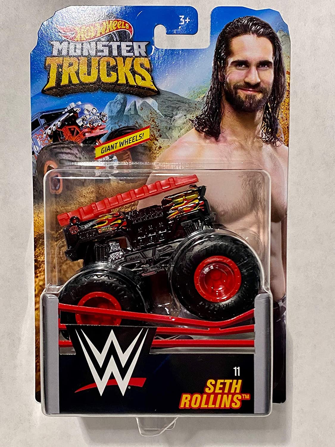 Amazon Com Hot Wheels Monster Trucks 1 64 Wwe Seth Rollins 11 Toys Games
