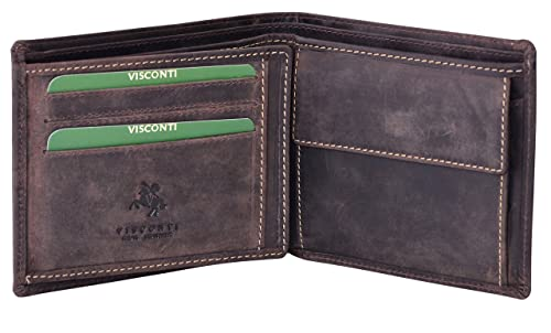 Bifold Wallet Homme Leather 701 Visconti HunterMarron Portefeuille Cuir Huilé l53uTFK1Jc